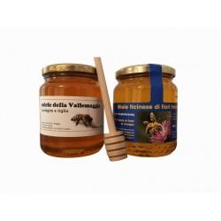 Honig-Spezialität im Duopack a je 500 gr. mit löffel