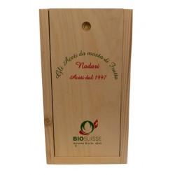 Essig Geschenkholzbox für 2 FLaschen